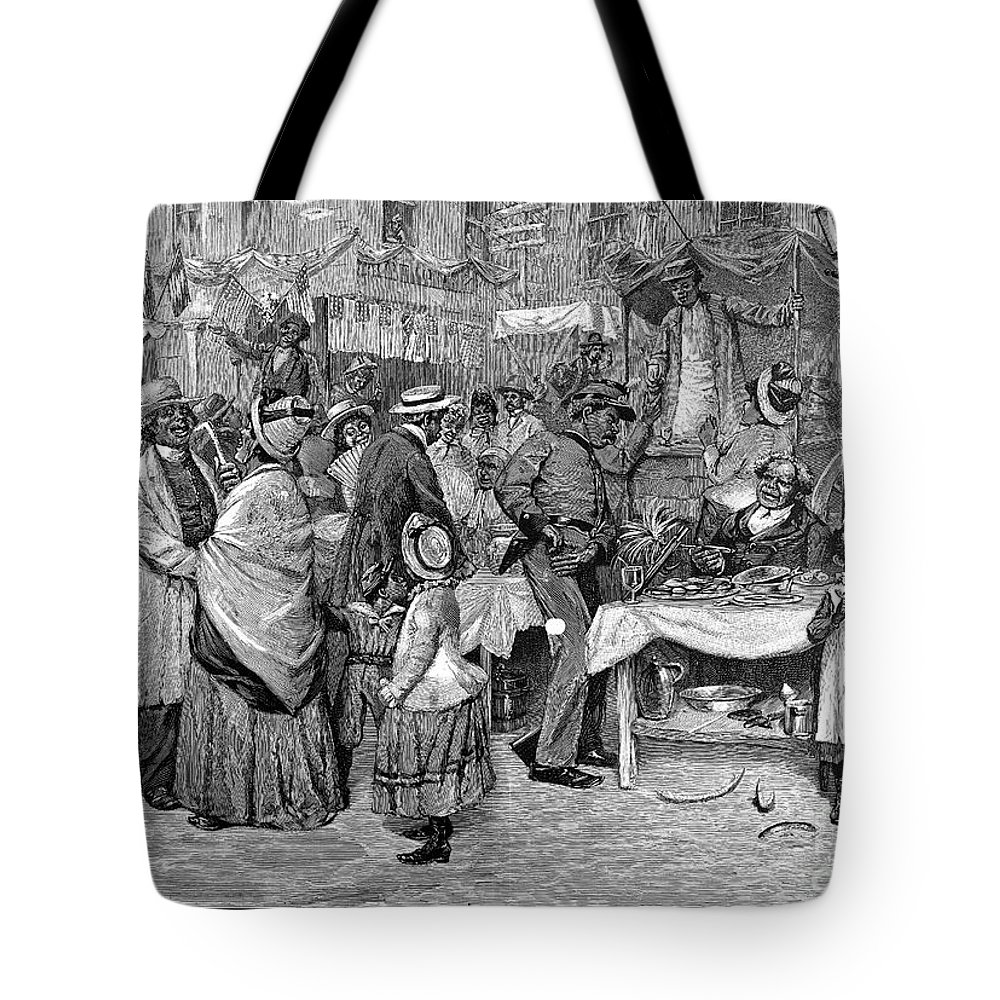 1888 Tote Bag featuring the photograph Fourth Of July, 1888 by Granger