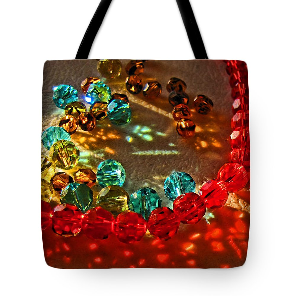 Crystals Tote Bag featuring the photograph Fractured Light I by Debbie Portwood