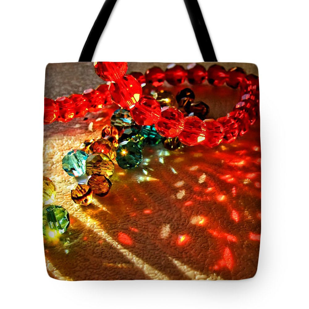 Crystals Tote Bag featuring the photograph Fractured Light II by Debbie Portwood