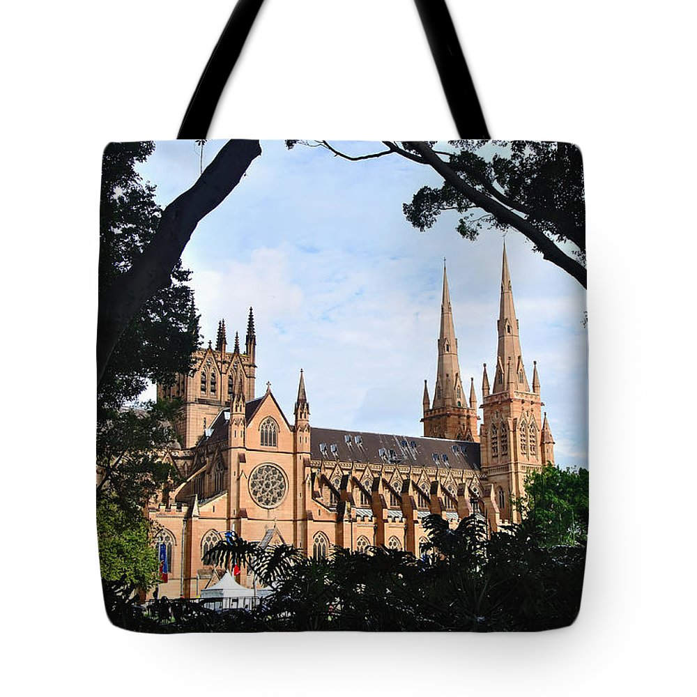 Photography Tote Bag featuring the photograph Framed Cathedral by Kaye Menner