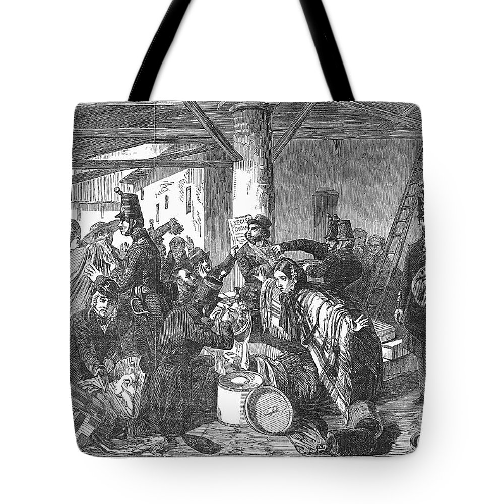 1854 Tote Bag featuring the photograph France: Custom House, 1854 by Granger