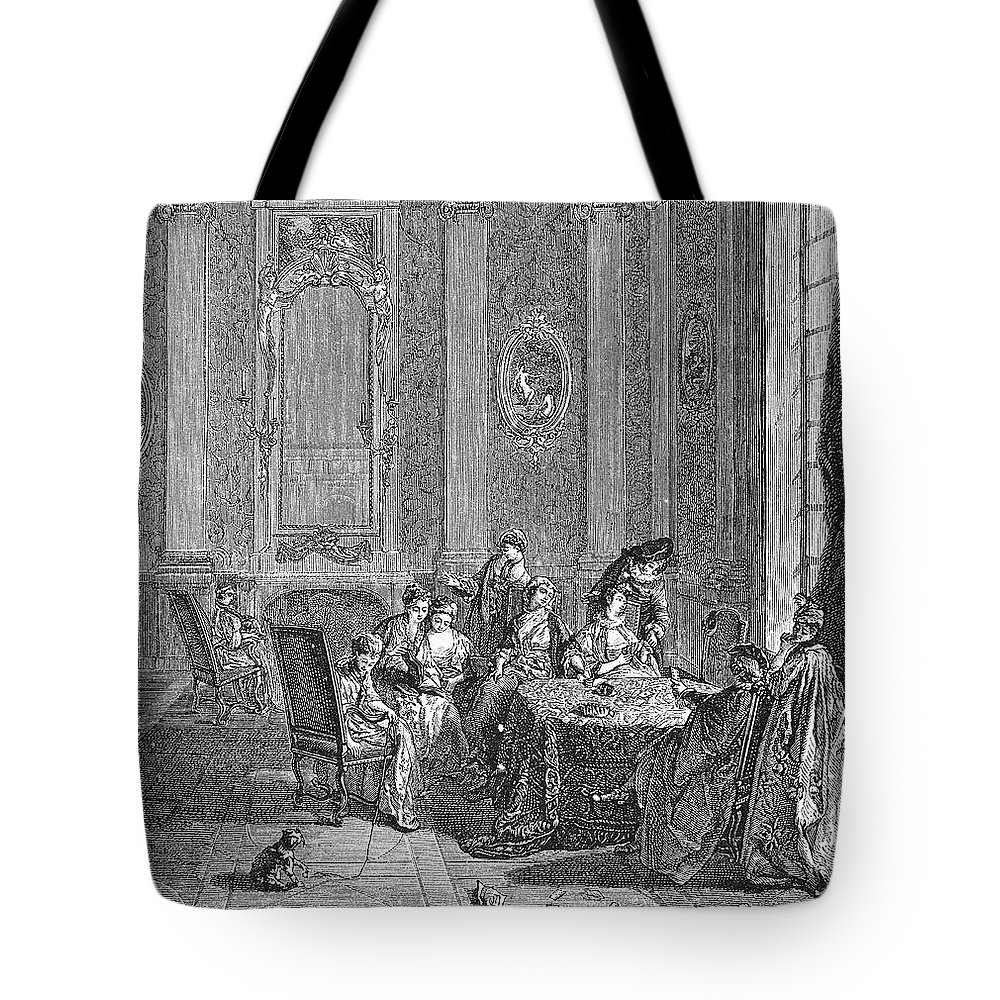 18th Century Tote Bag featuring the photograph France: Gambling, C1750 by Granger