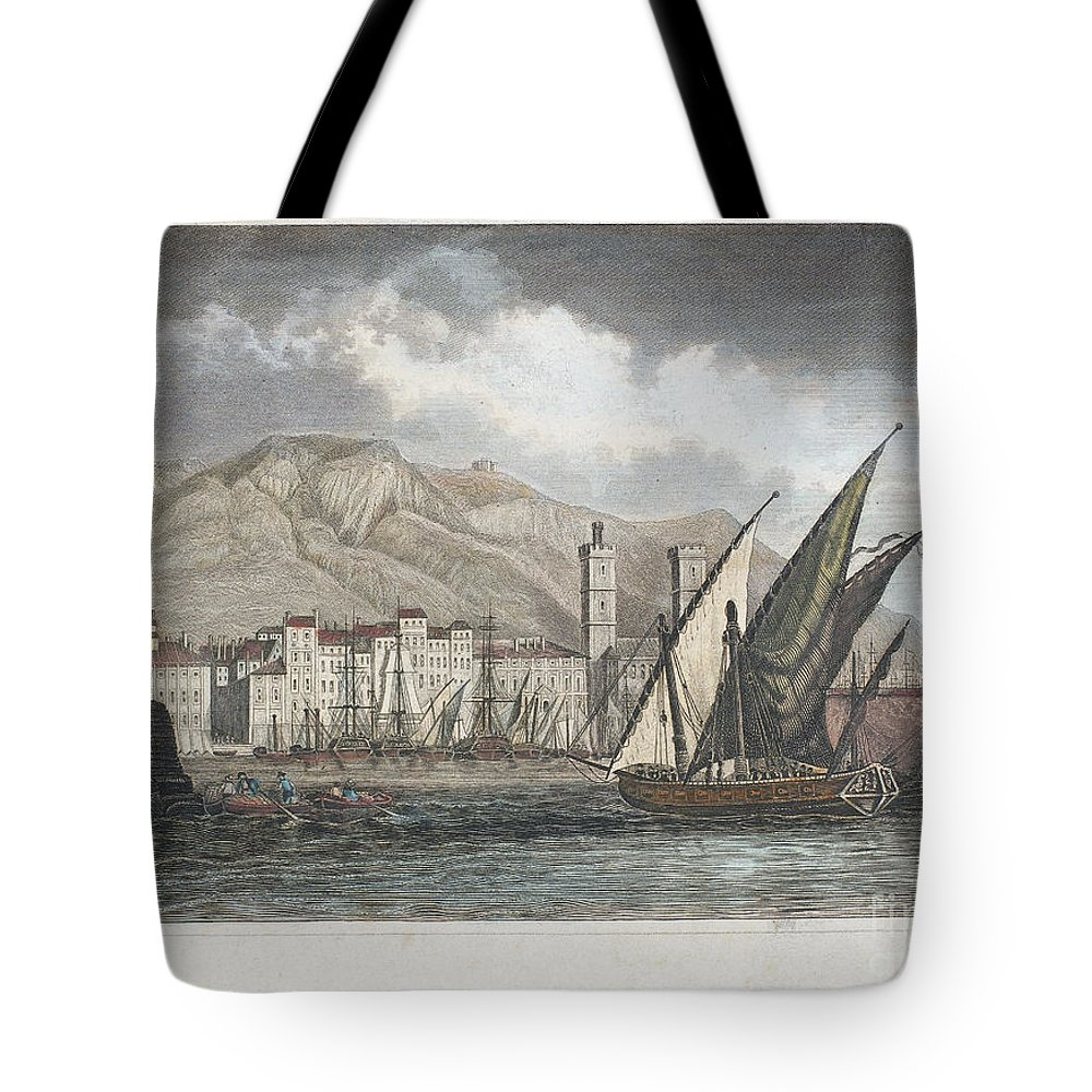 1850 Tote Bag featuring the photograph France: Toulon, C1850 by Granger