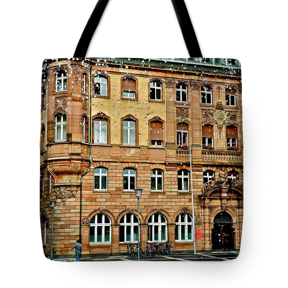 Frankfurt Tote Bag featuring the photograph Frankfurt On A Rainy Day by Kirsten Giving