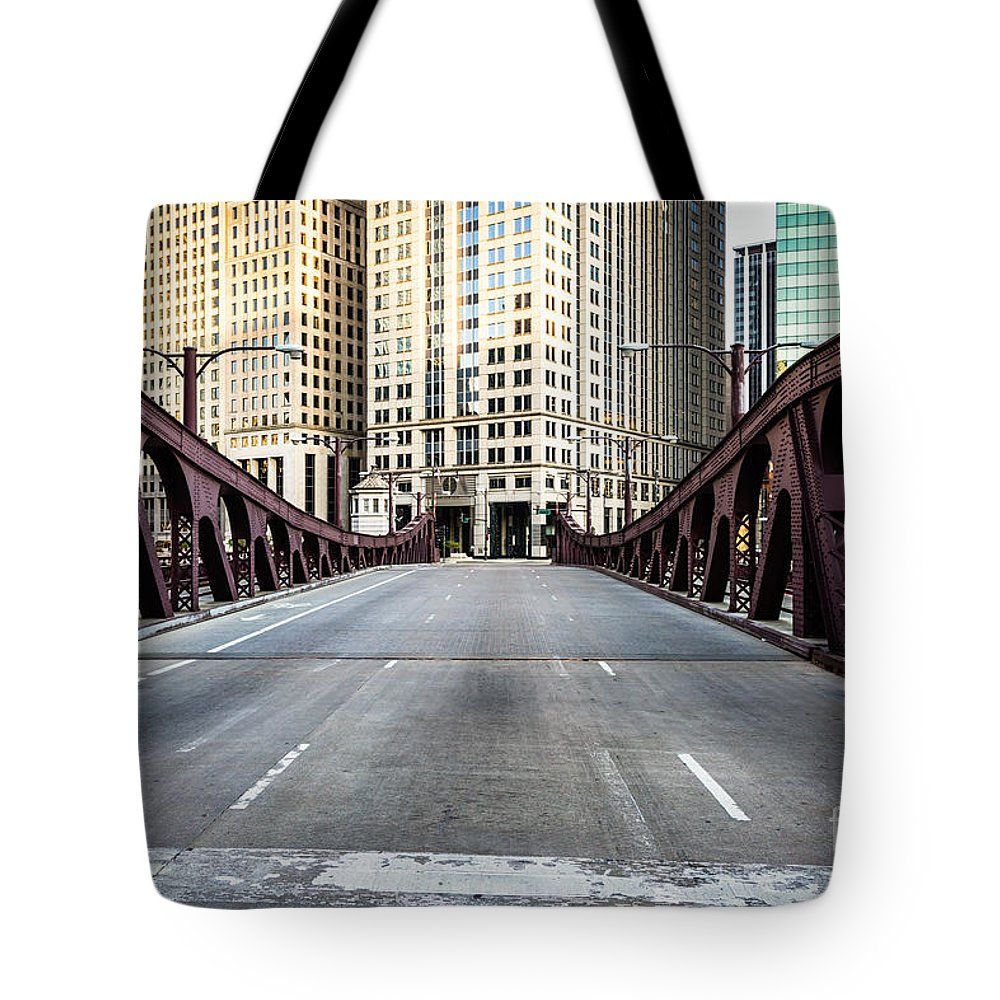 America Tote Bag featuring the photograph Franklin Orleans Street Bridge Chicago Loop by Paul Velgos