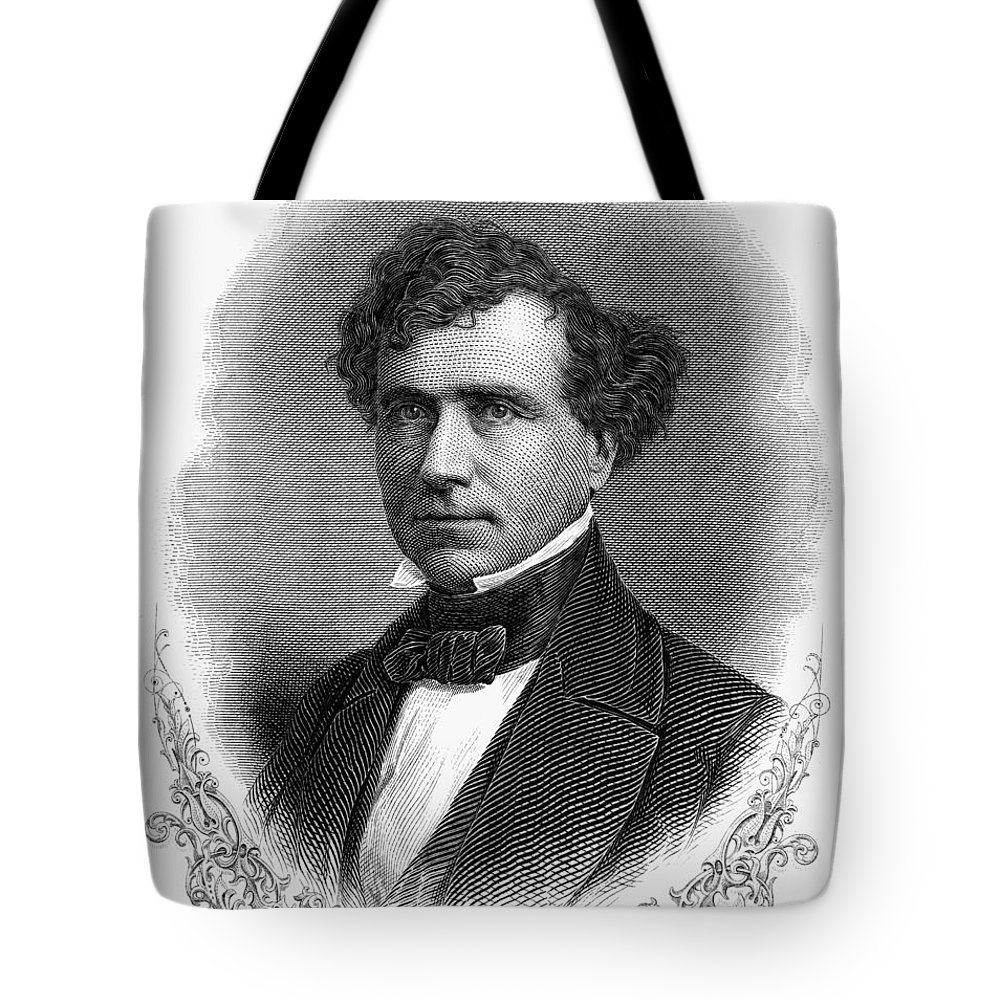 19th Century Tote Bag featuring the photograph Franklin Pierce (1804-1869) by Granger