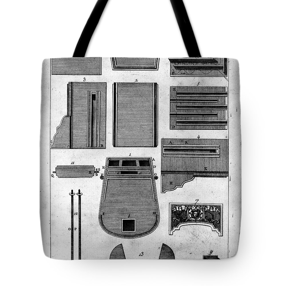 1760 Tote Bag featuring the photograph Franklin: Stove, C1760 by Granger