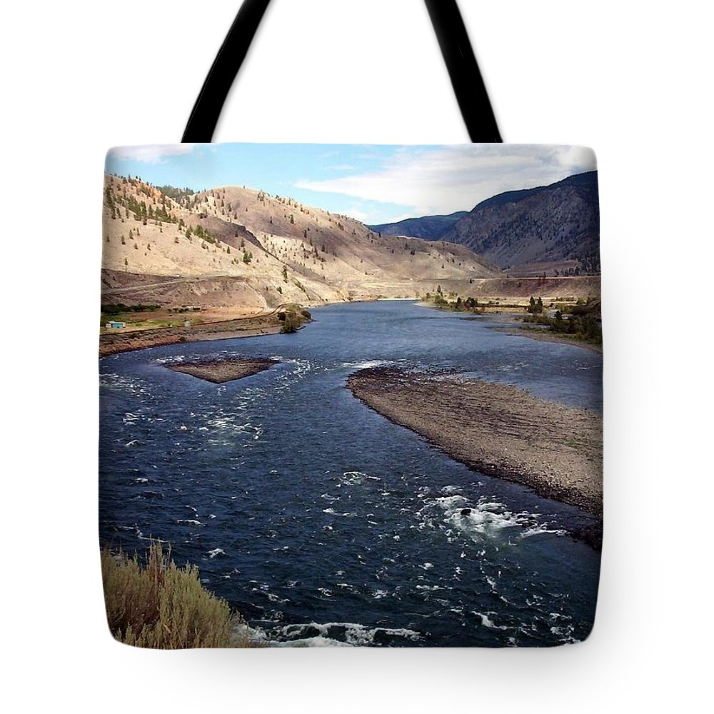 Fraser River Tote Bag featuring the photograph Fraser River by Susan Saver