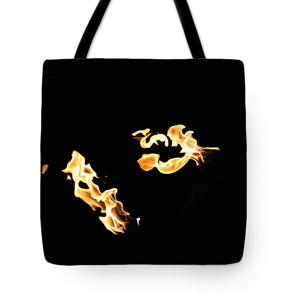 Jennifer Bright Art Tote Bag featuring the photograph Freeze Fire 2 by Jennifer Bright