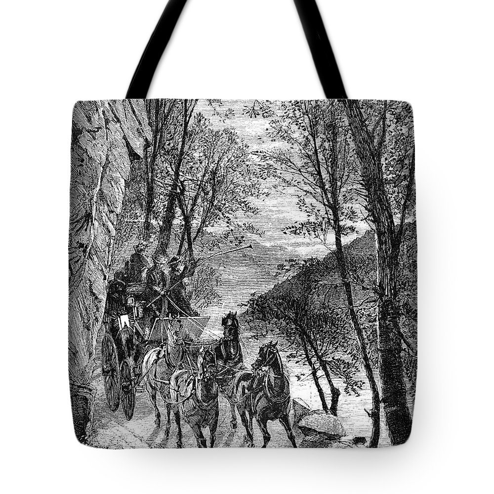 1873 Tote Bag featuring the photograph French Broad River, C1873 by Granger