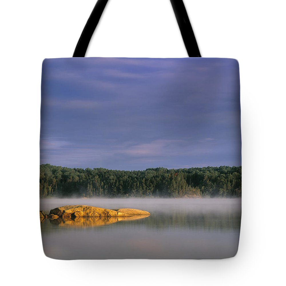 Light Tote Bag featuring the photograph French Lake, Quetico Provincial Park by Darwin Wiggett