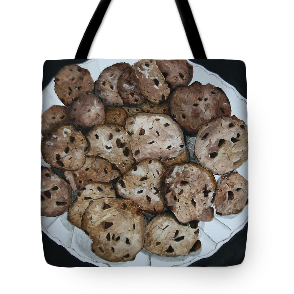 Cookies Tote Bag featuring the painting Fresh From The Oven by Betty-Anne McDonald