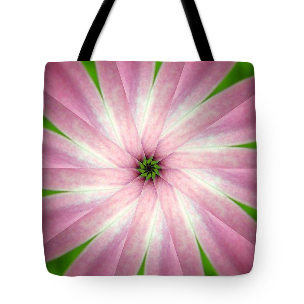 Photo Tote Bag featuring the digital art Fresh Pink by Rhonda Barrett