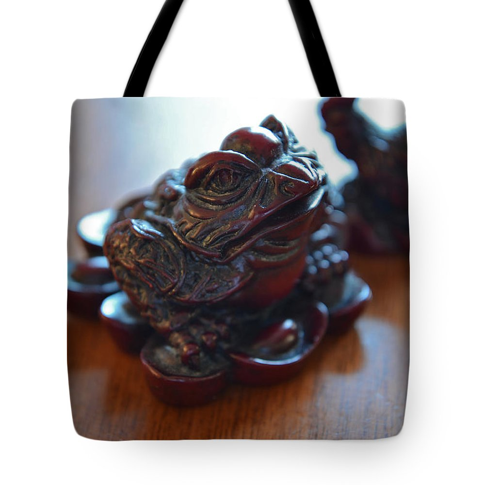 Frog Tote Bag featuring the photograph Frog And Rooster by Bill Owen