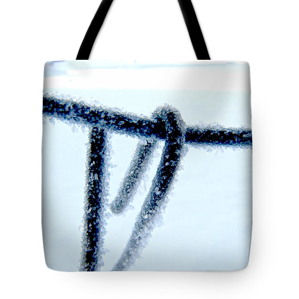 Nature Tote Bag featuring the photograph Frozen I by Debbie Portwood