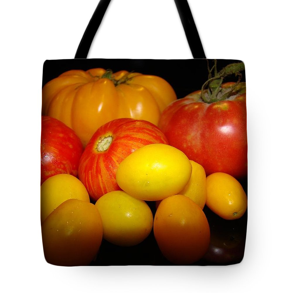 Tomatoes Tote Bag featuring the photograph Fruits Of Our Labor by Michael MacGregor