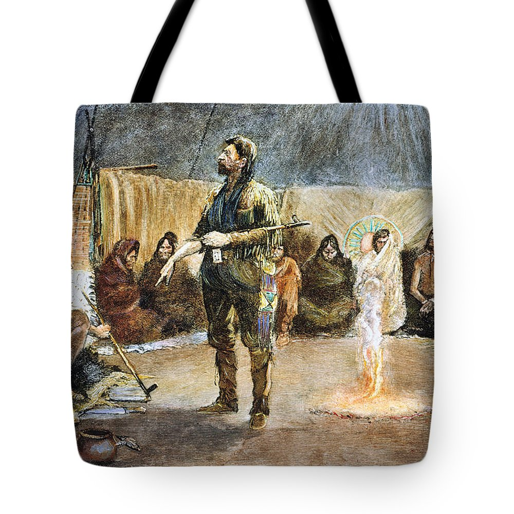 19th Century Tote Bag featuring the photograph Fur Trader by Granger