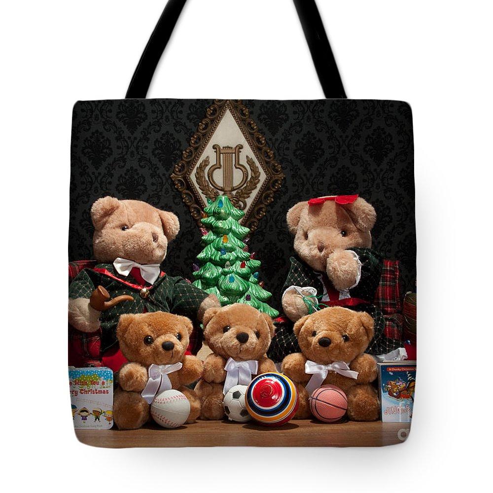 (c) Dinah Anaya Tote Bag featuring the photograph Fuzzy Bears 10 by Dinah Anaya