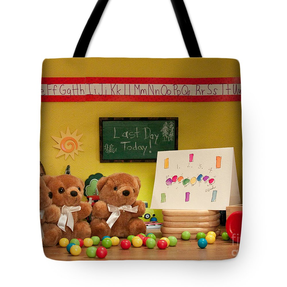 (c) Dinah Anaya Tote Bag featuring the photograph Fuzzy Bears 2 by Dinah Anaya