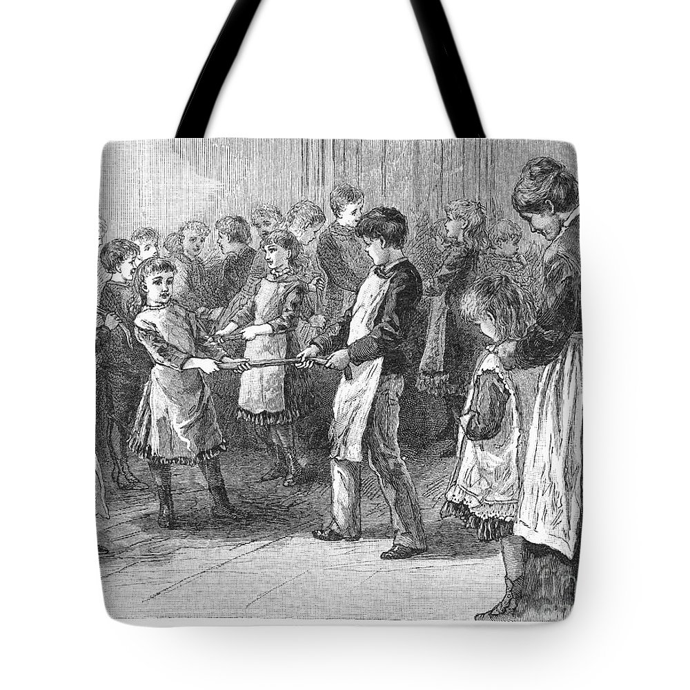 19th Century Tote Bag featuring the photograph Games: Candy Pulling by Granger