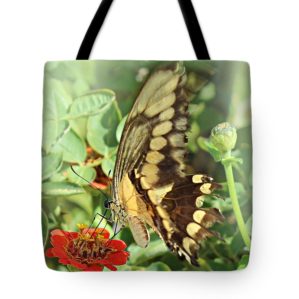 Floral Tote Bag featuring the photograph Garden Company by Kume Bryant