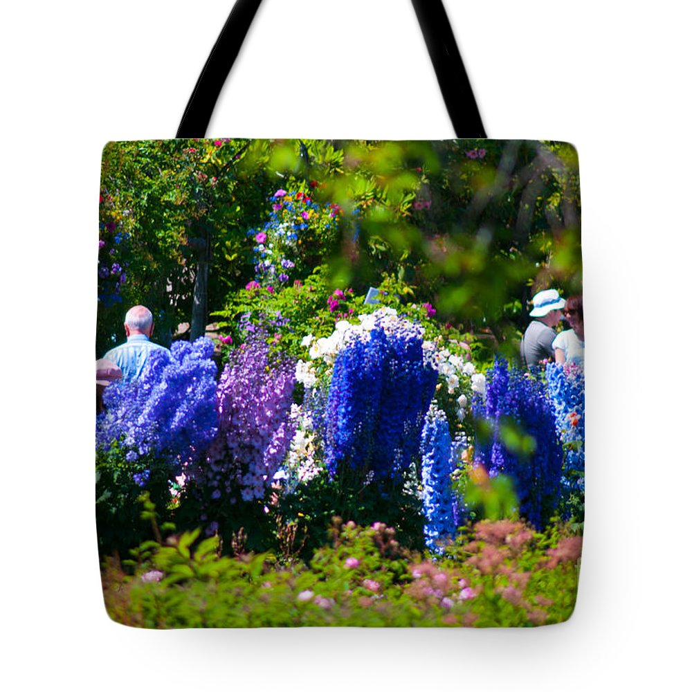 Flowers Tote Bag featuring the photograph Garden Party by Louise Magno
