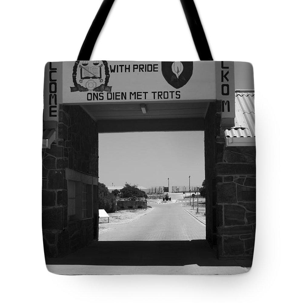 Robben Island Tote Bag featuring the photograph Gateway by Aidan Moran