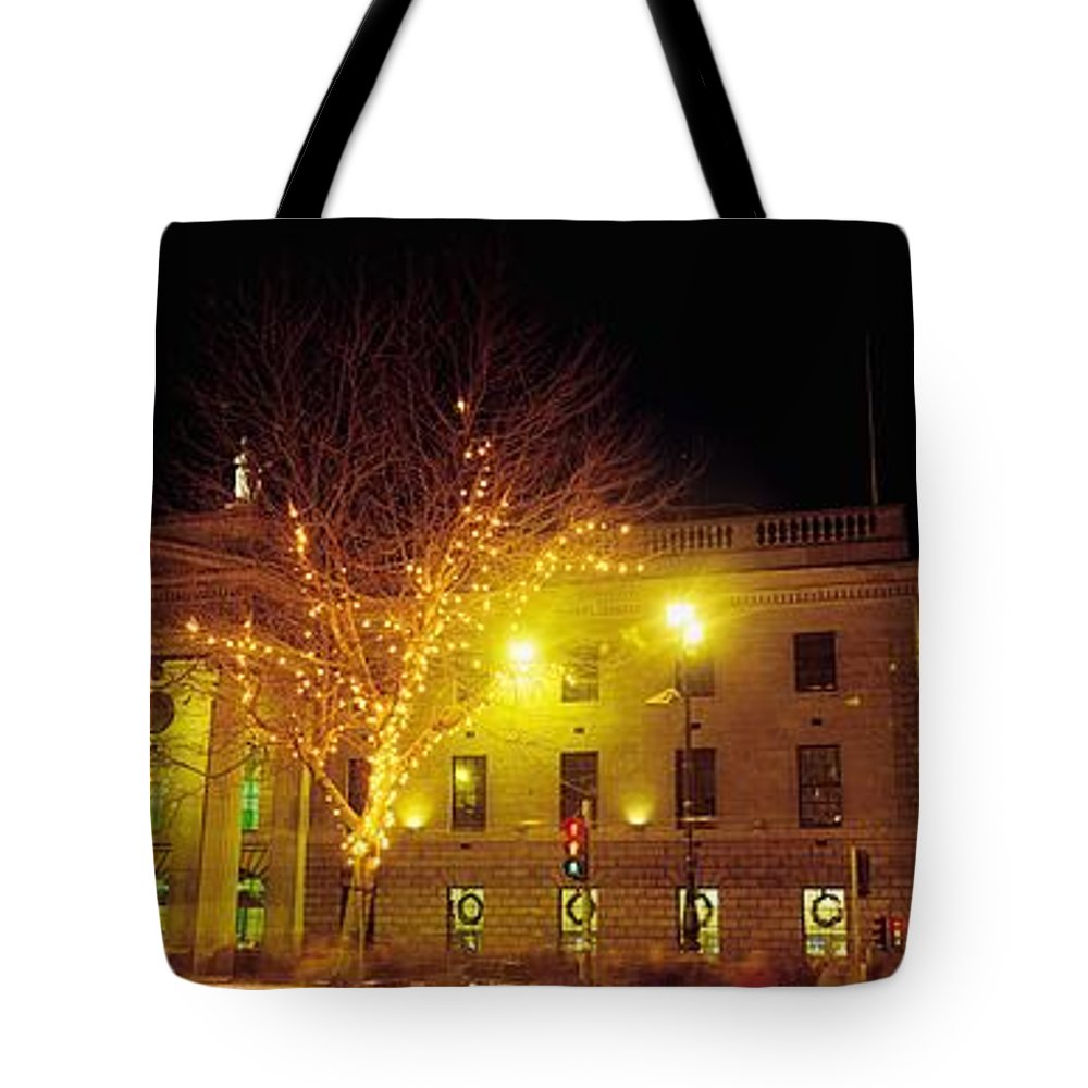 Building Tote Bag featuring the photograph General Post Office, Oconnell Street by The Irish Image Collection