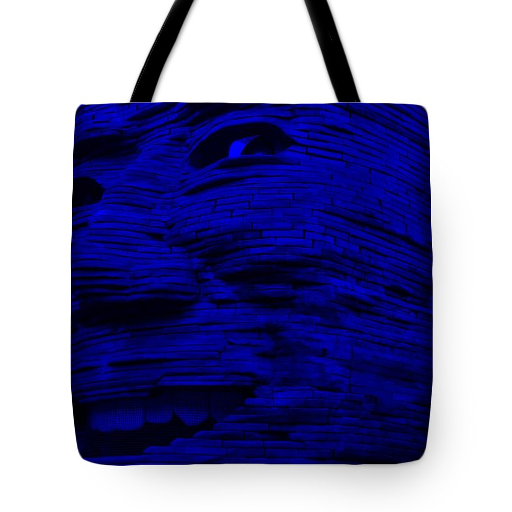 Architecture Tote Bag featuring the photograph Gentle Giant In Blue by Rob Hans