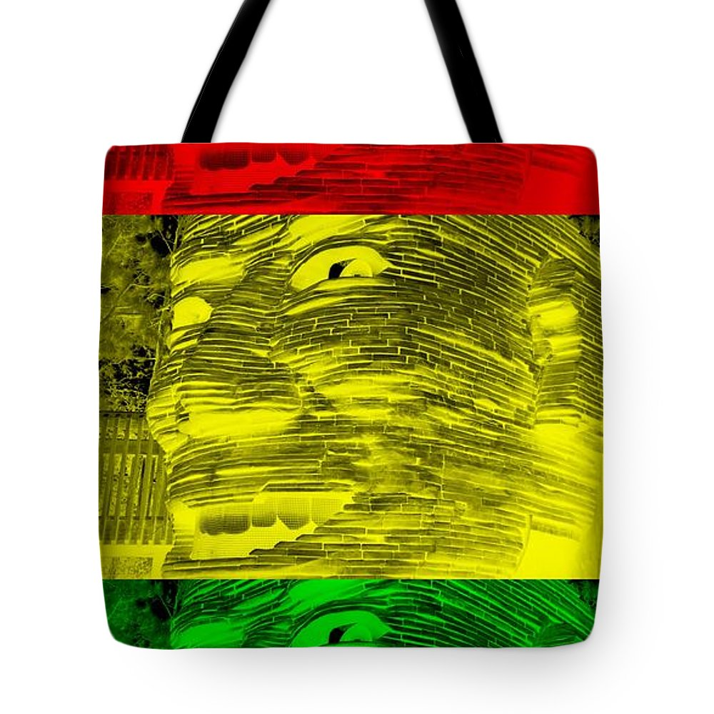 Architecture Tote Bag featuring the photograph Gentle Giant In Negative Stop Light Colors by Rob Hans