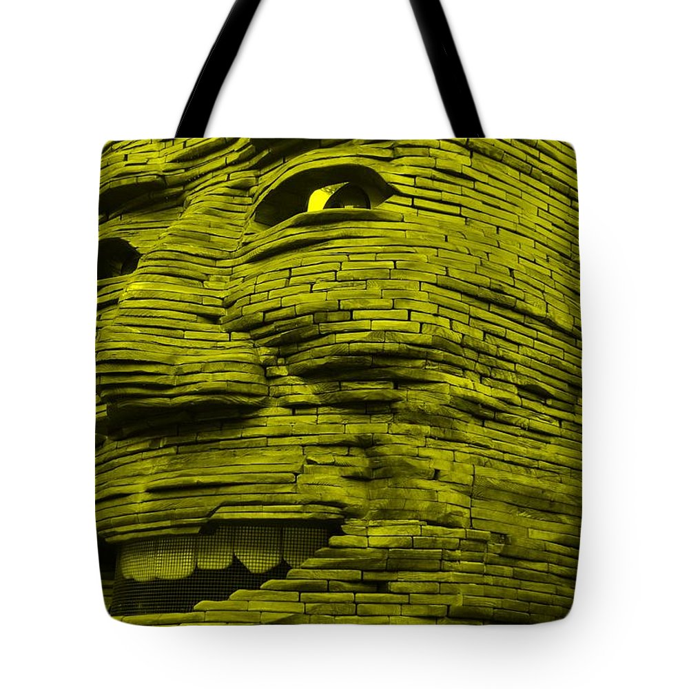 Architecture Tote Bag featuring the photograph Gentle Giant In Yellow by Rob Hans