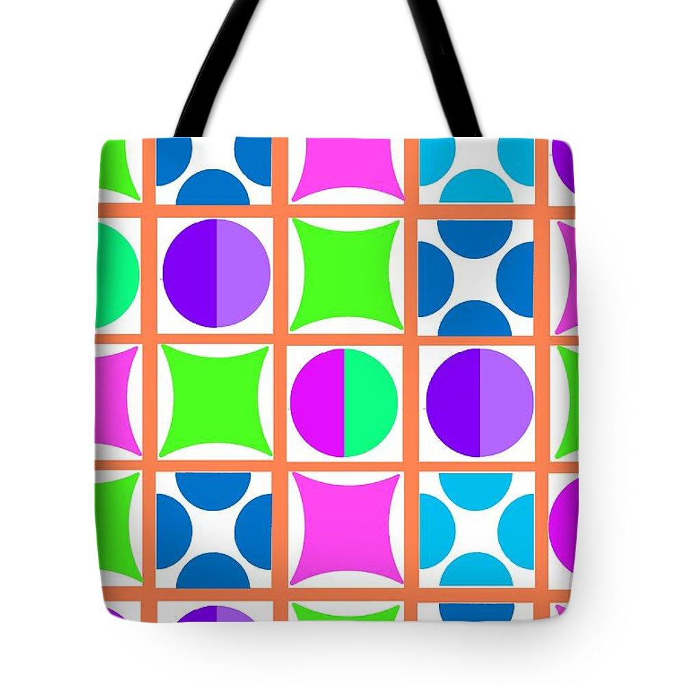 Geo (digital) By Louisa Knight (contemporary Artist) Tote Bag featuring the digital art Geo by Louisa Knight