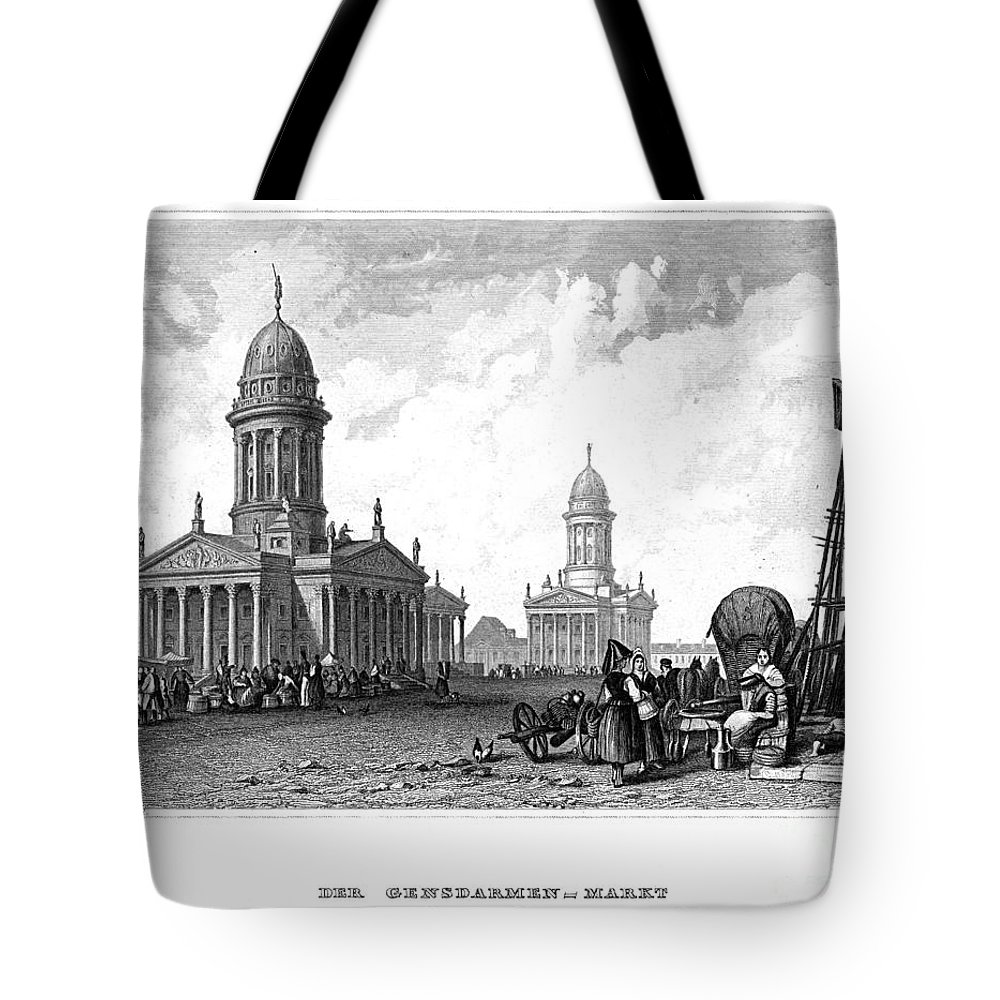 1820 Tote Bag featuring the photograph Geography: Berlin by Granger