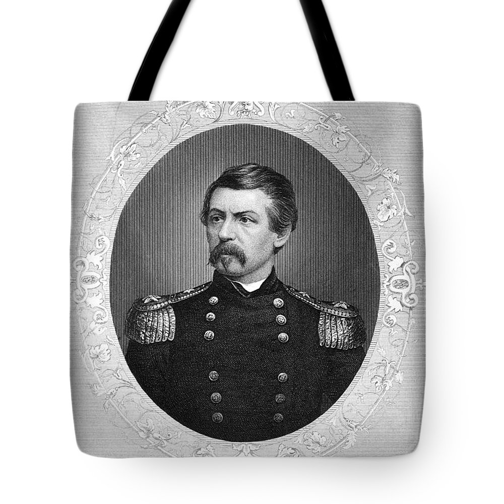 1862 Tote Bag featuring the photograph George Brinton Mcclellan by Granger