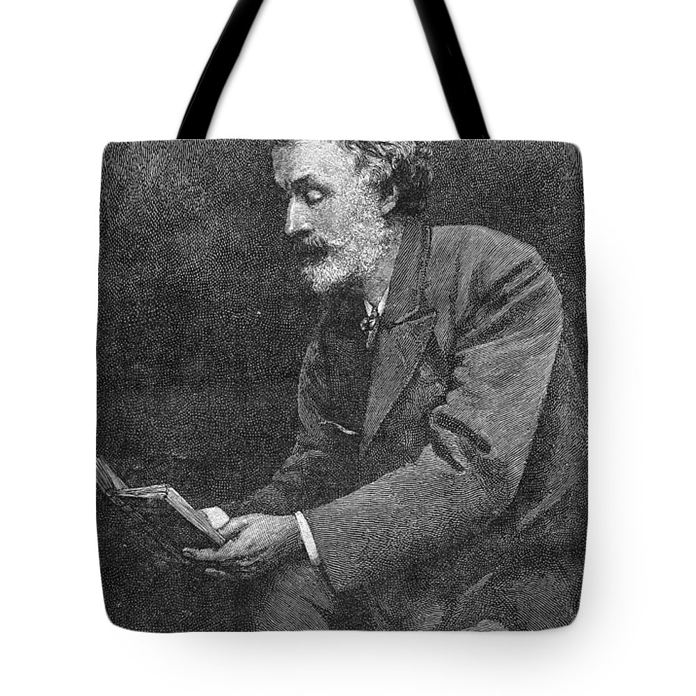 1891 Tote Bag featuring the photograph George Meredith (1828-1909) by Granger