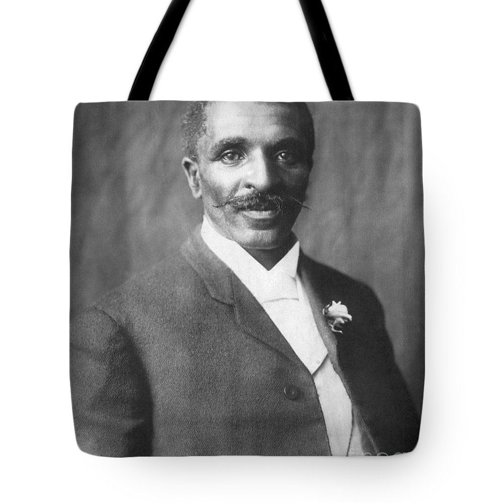 Science Tote Bag featuring the photograph George W. Carver, African-american by Science Source