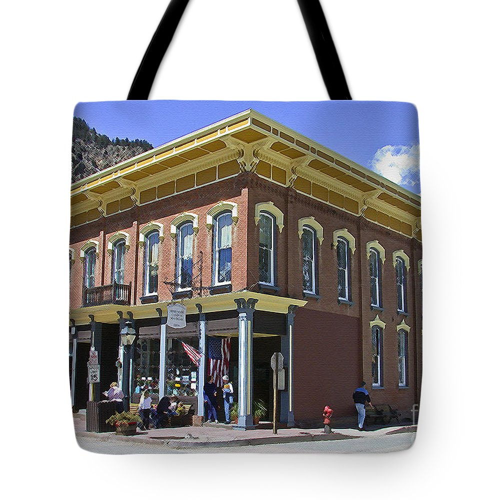 Georgetown Tote Bag featuring the photograph Georgetown Colorado On Canvas by Tim Mulina