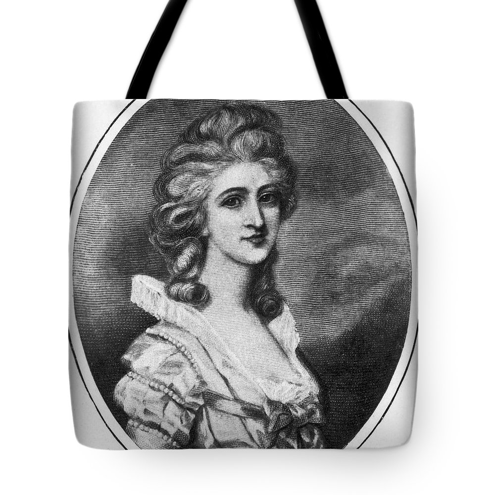 18th Century Tote Bag featuring the photograph Georgiana Shipley (1752-1806) by Granger