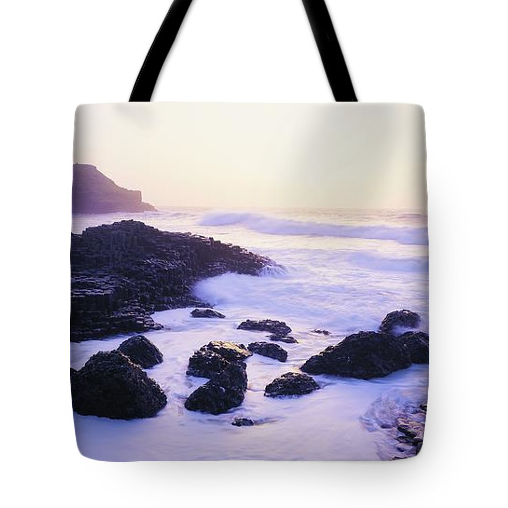 Beach Tote Bag featuring the photograph Giants Causeway, Co Antrim, Ireland by The Irish Image Collection