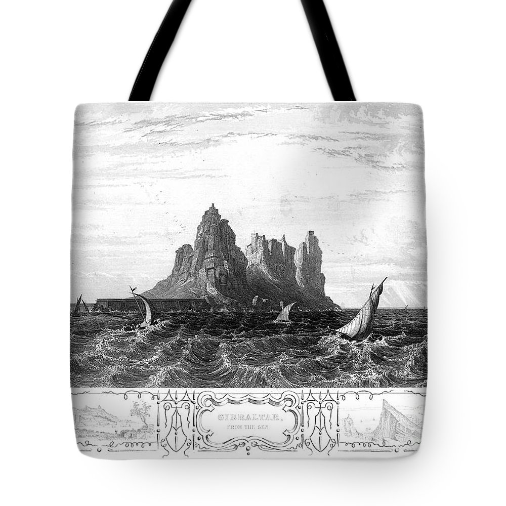 19th Century Tote Bag featuring the photograph Gibraltar, 19th Century by Granger