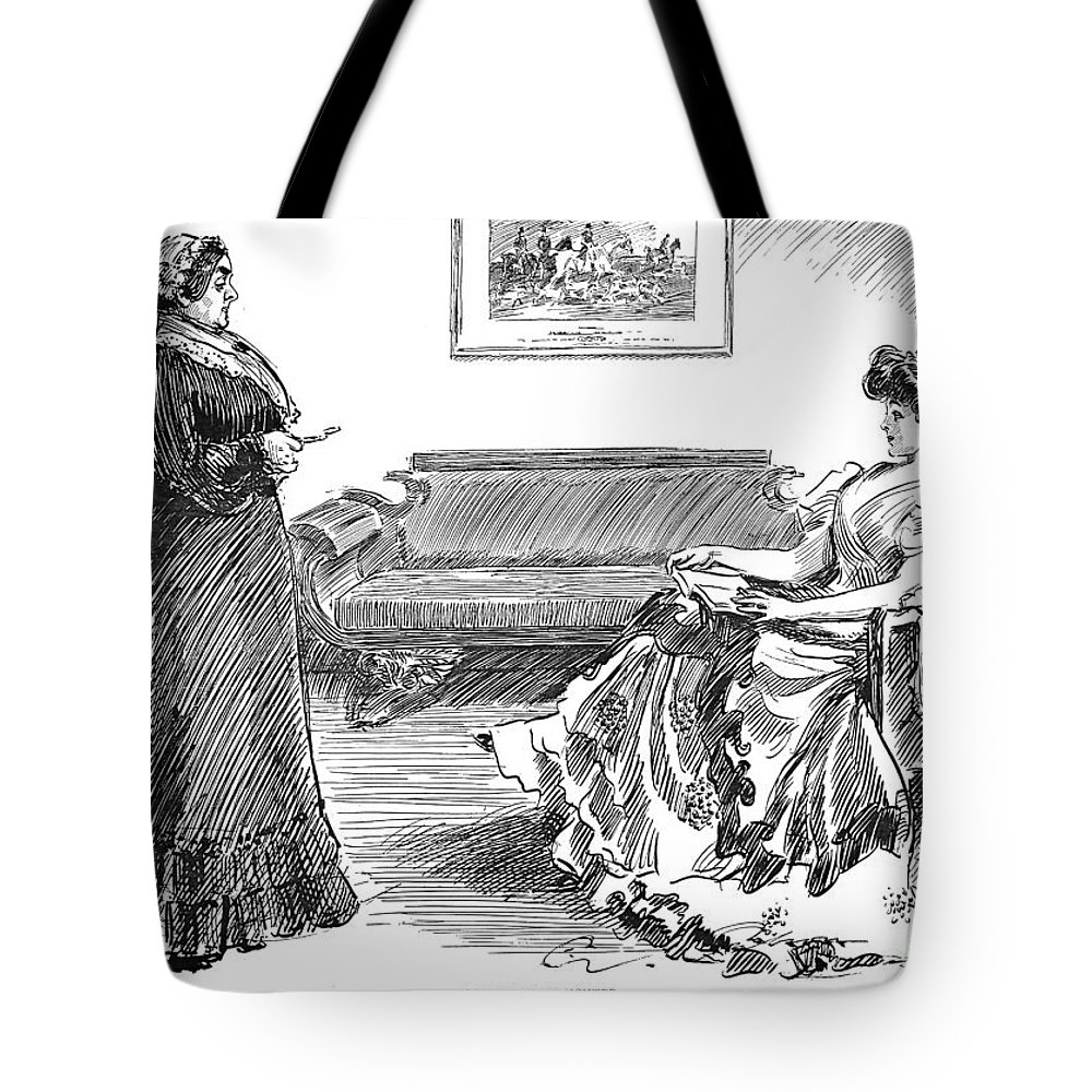 1904 Tote Bag featuring the photograph Gibson: A Careful Daughter by Granger