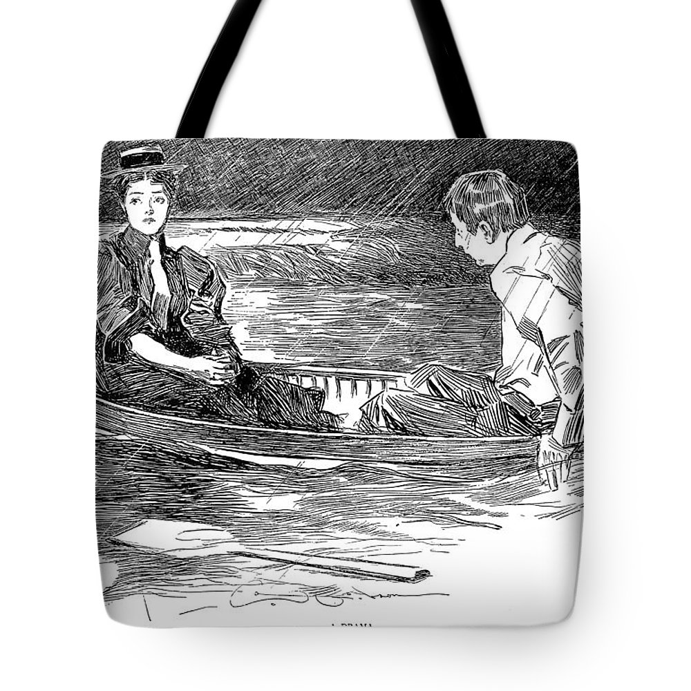 1895 Tote Bag featuring the photograph Gibson: A Drama, 1895 by Granger