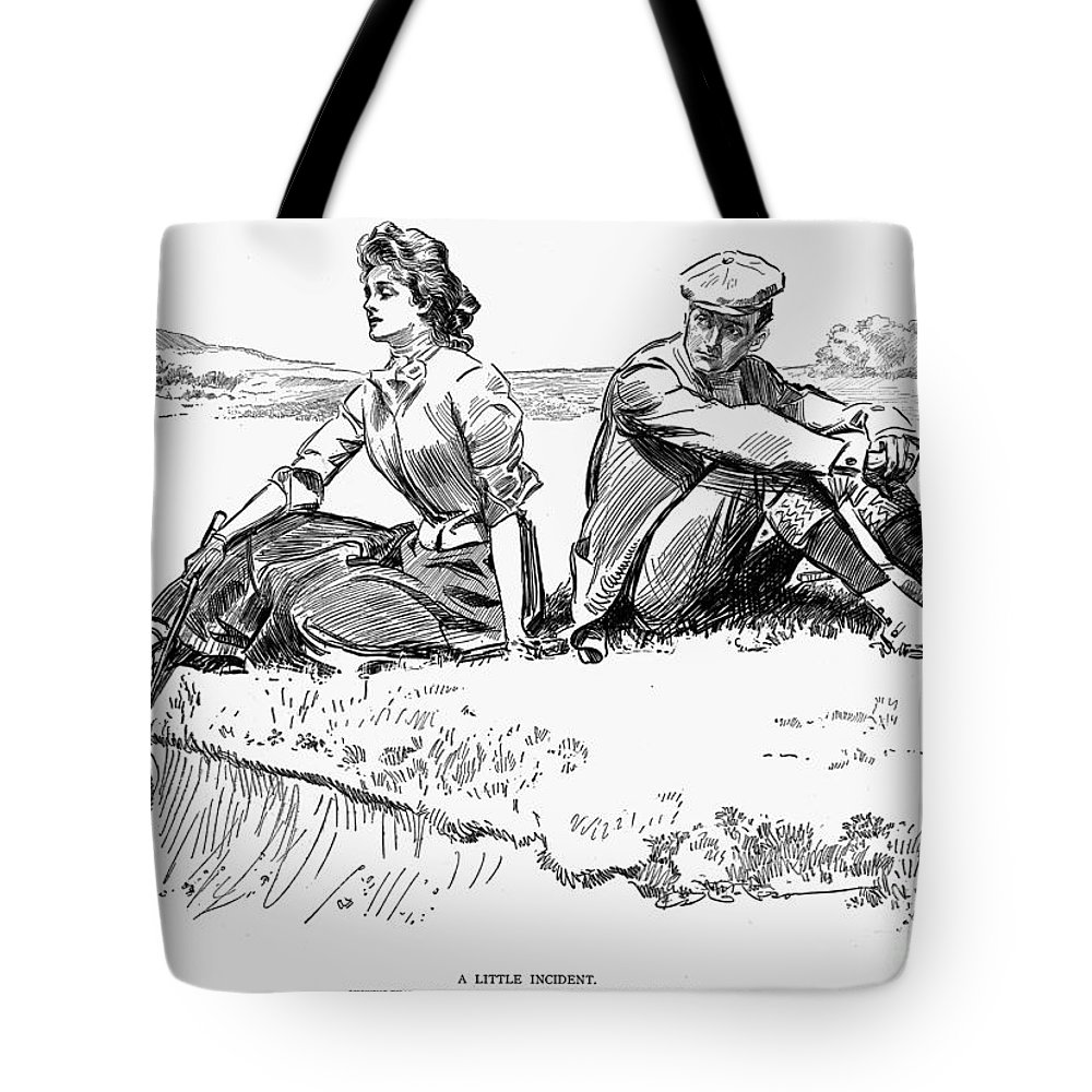 1900 Tote Bag featuring the photograph Gibson: A Little Incident by Granger