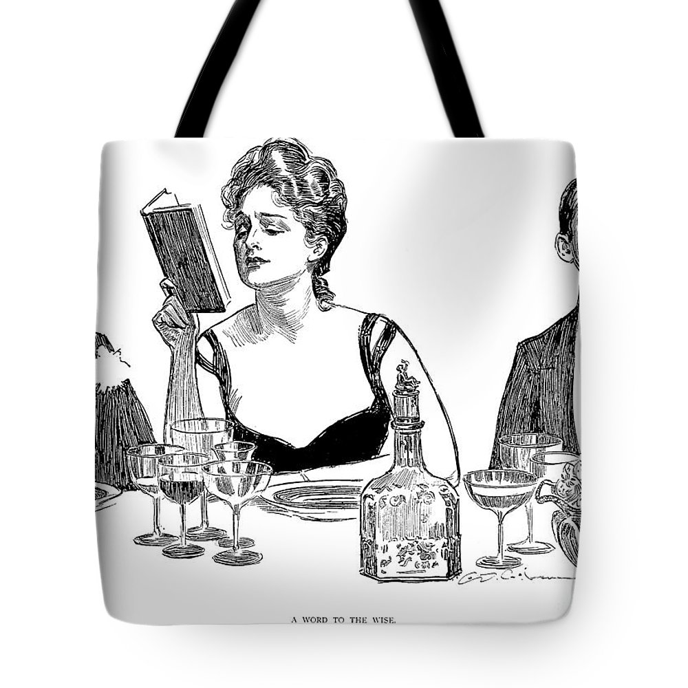 1900 Tote Bag featuring the photograph Gibson: A Word To The Wise by Granger