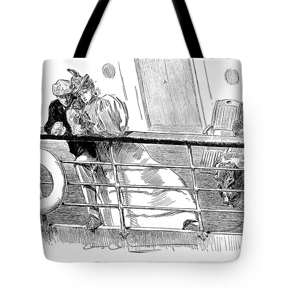 1897 Tote Bag featuring the photograph Gibson An Ill Wind, 1897 by Granger