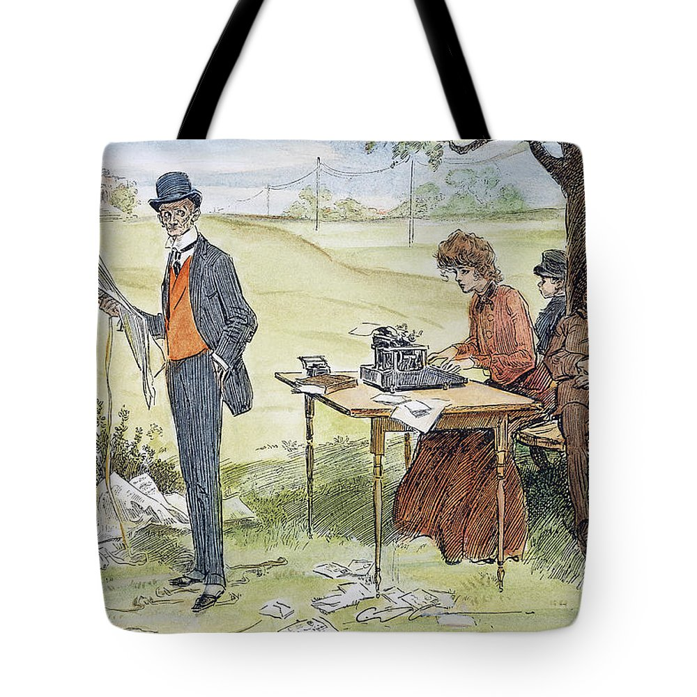 1903 Tote Bag featuring the photograph Gibson Art, 1903 by Granger