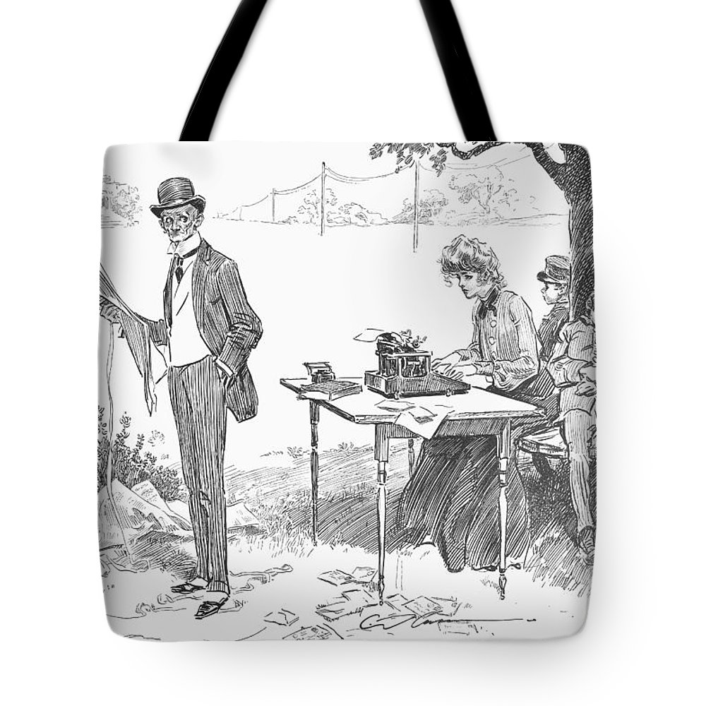 1903 Tote Bag featuring the photograph Gibson: Businessman, 1903 by Granger