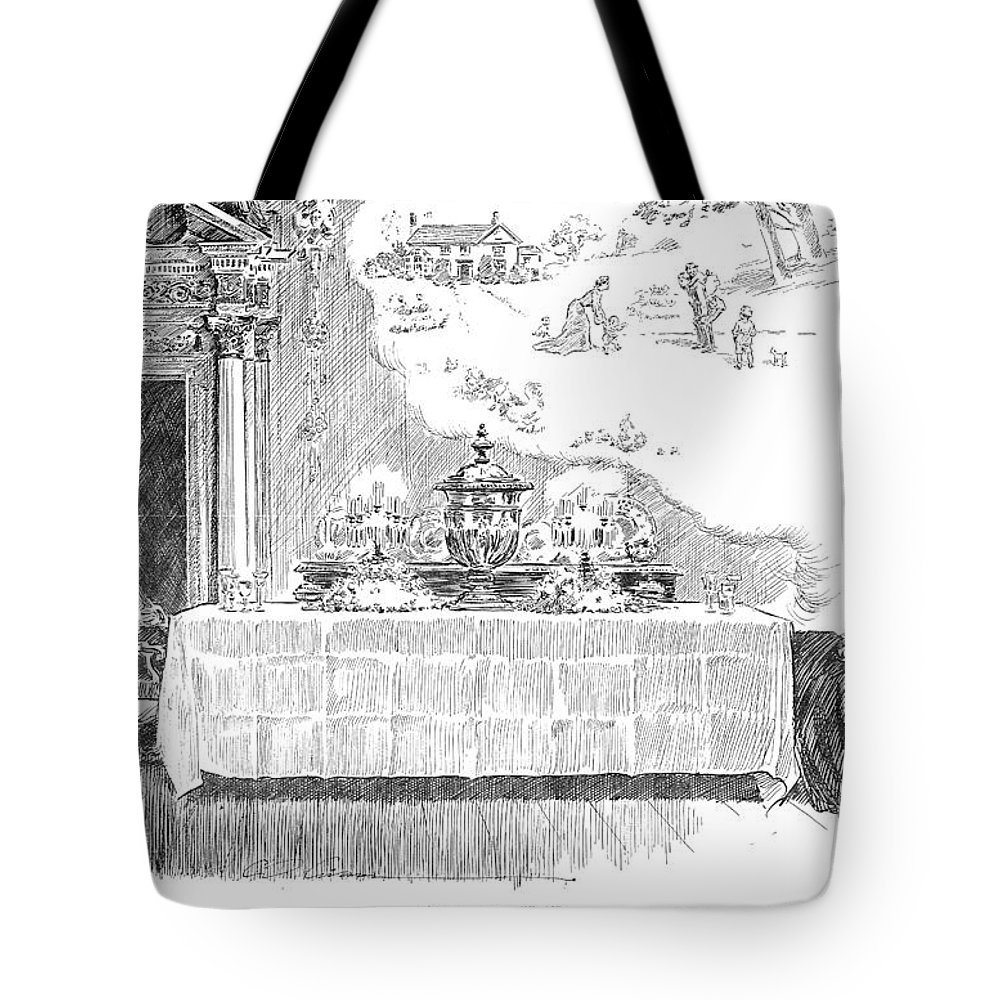 1902 Tote Bag featuring the photograph Gibson: Castle In The Air by Granger