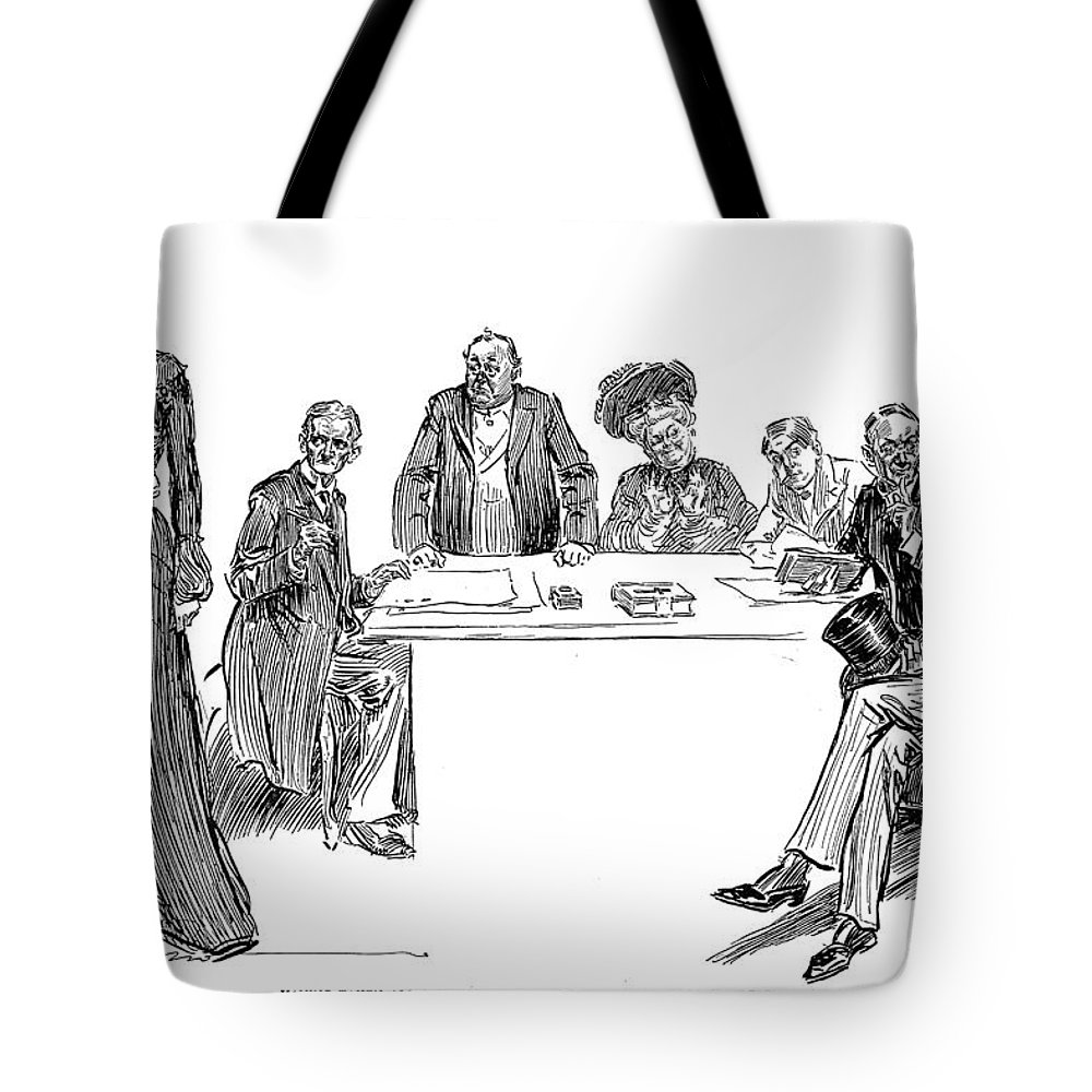 1904 Tote Bag featuring the photograph Gibson: Drawings, 1904 by Granger