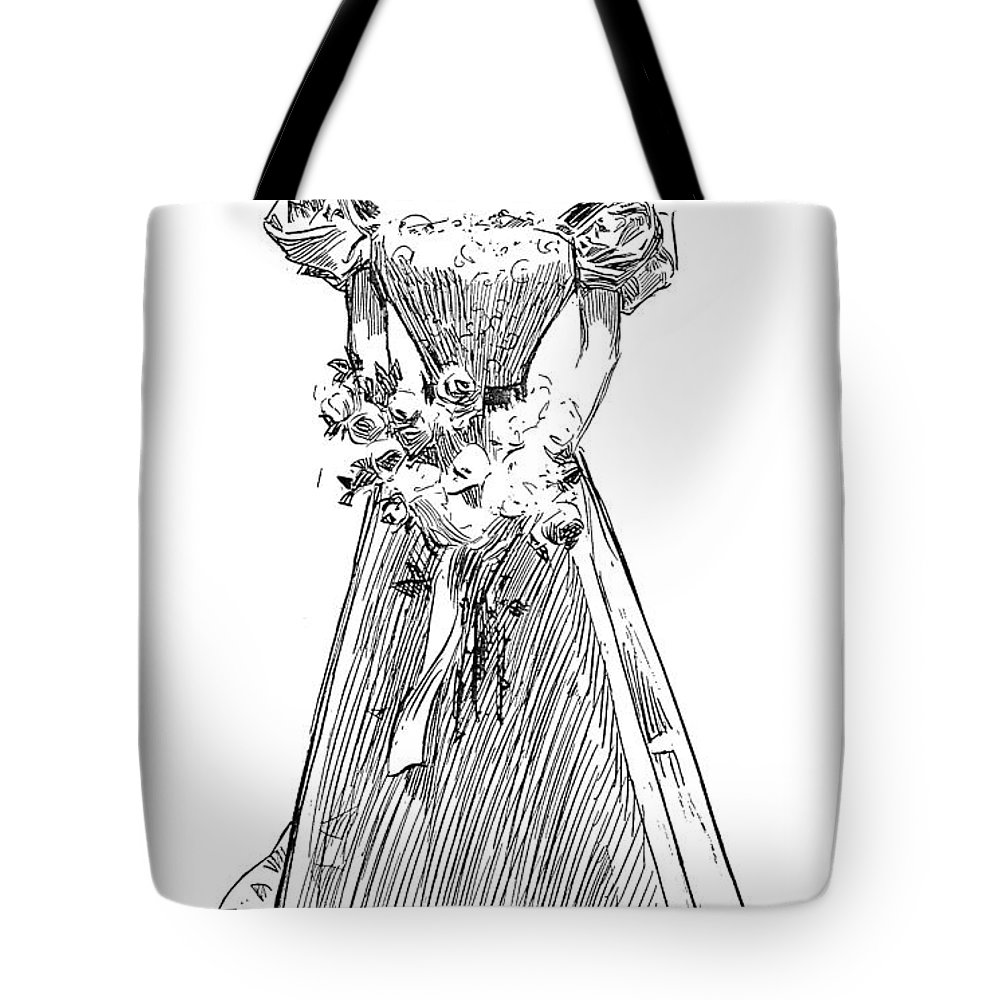 1897 Tote Bag featuring the photograph Gibson: Gibson Girl, 1897 by Granger